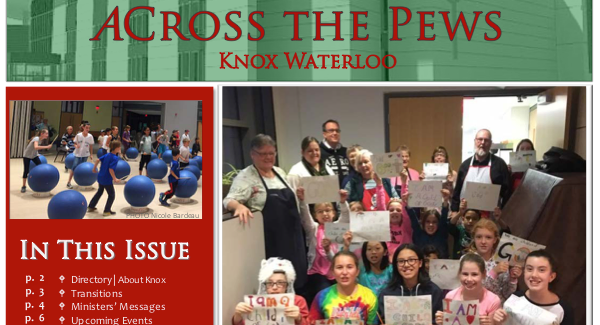 Cover of ACross the Pews Winter 2017 Newsletter